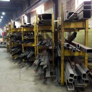 steel beams that will be applied to steel yard ramps