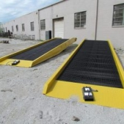 Extra large yard ramps in use